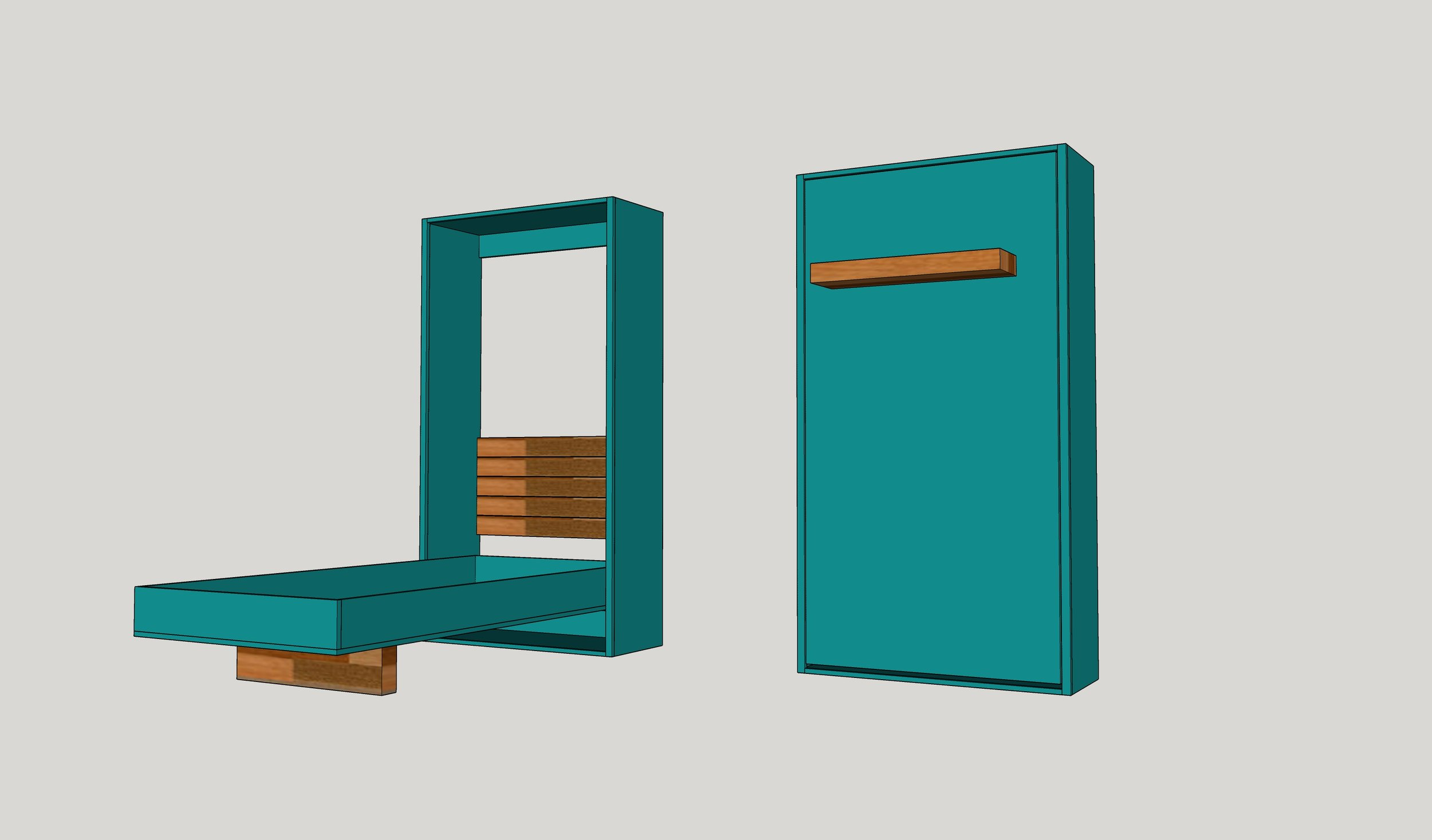 diy twin murphy beds without