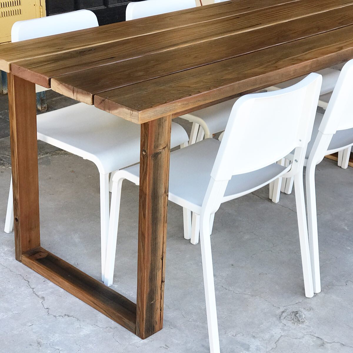 diy simple outdoor dining table the