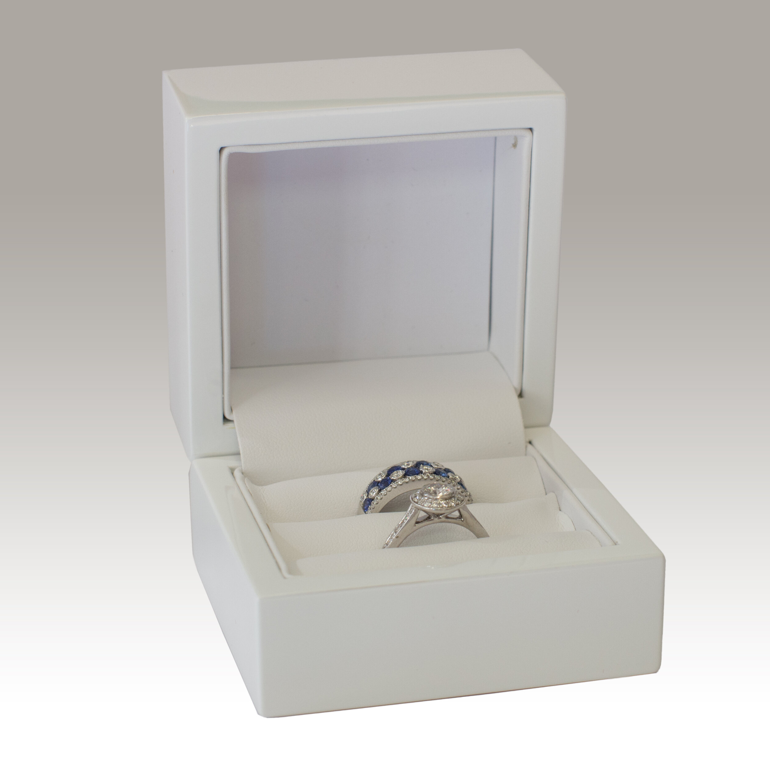 02 Box Wq-02 White Cologne Double Ring Box — Little Box Company