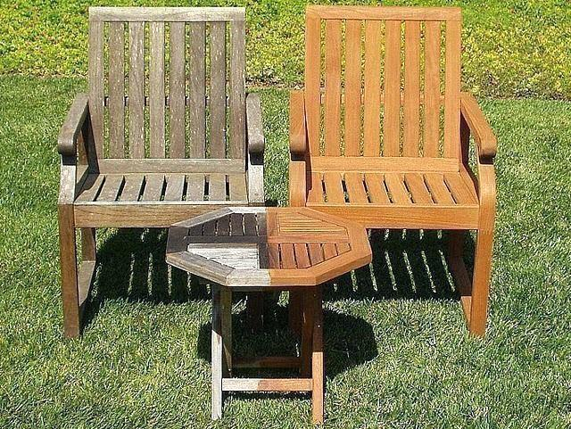 how to clean outdoor teak furniture