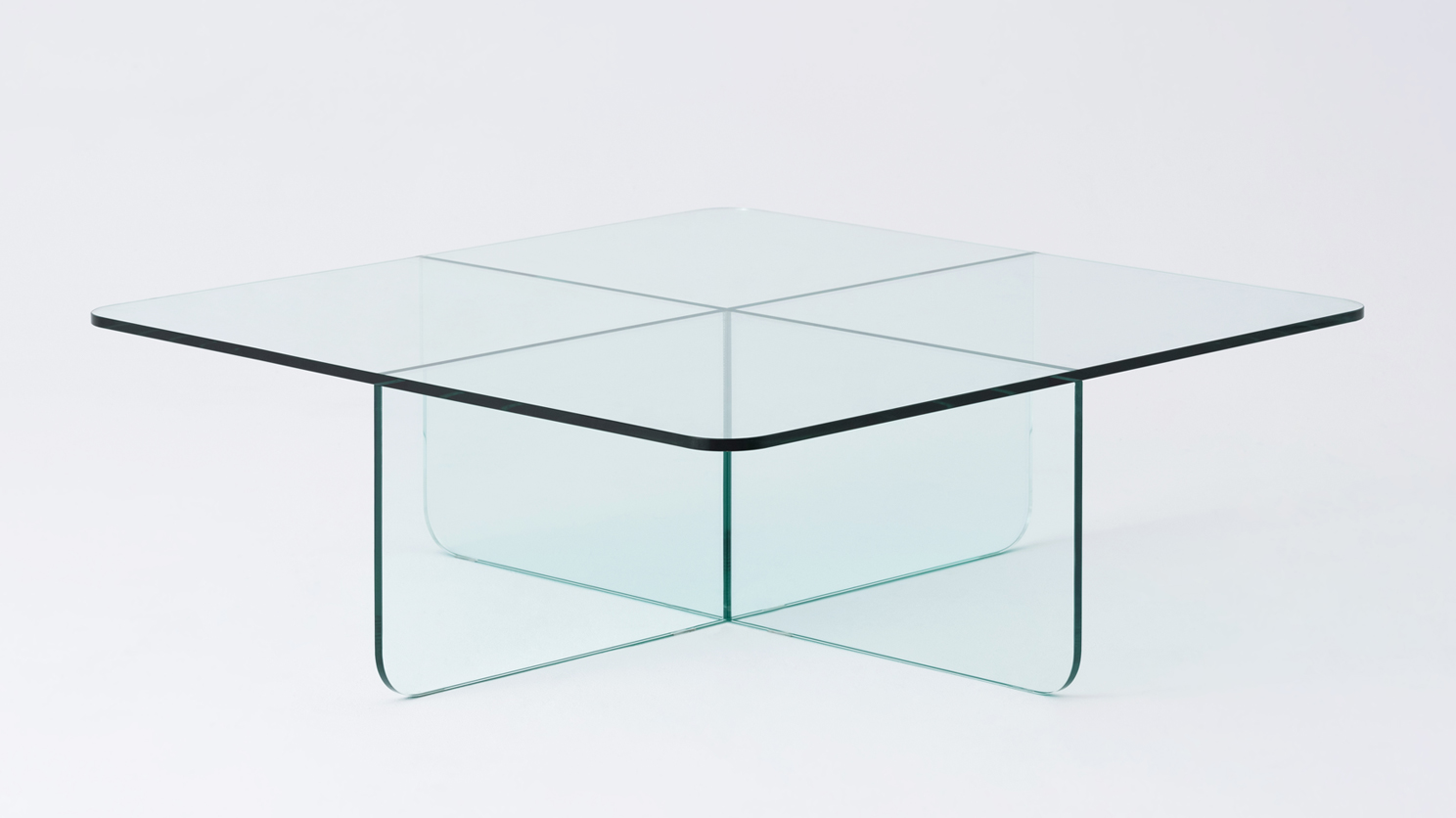 verre square glass coffee table m collection home
