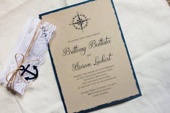 Nautical Wedding Invitation Sets