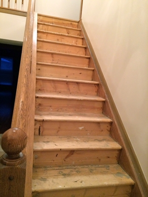 Diy Stair Makeover Carpet To Hardwood — Schooley Caldwell | Carpeted Stairs To Hardwood | Textured | Fully Carpeted | Staircase | Wall To Wall Carpet | Dark Wood