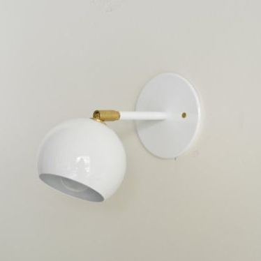 high low white ball sconce hi lo home