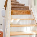 Diy Hardwood Staircase Makeover Replacing Carpet With Wood Treads On Pie Steps And Curved Landings T Moore Home Design Diy And Affordable Decorating Ideas