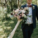 Calgary Wedding Flowers Florist Pine For Cedar Plum Navy Downtown Wedding