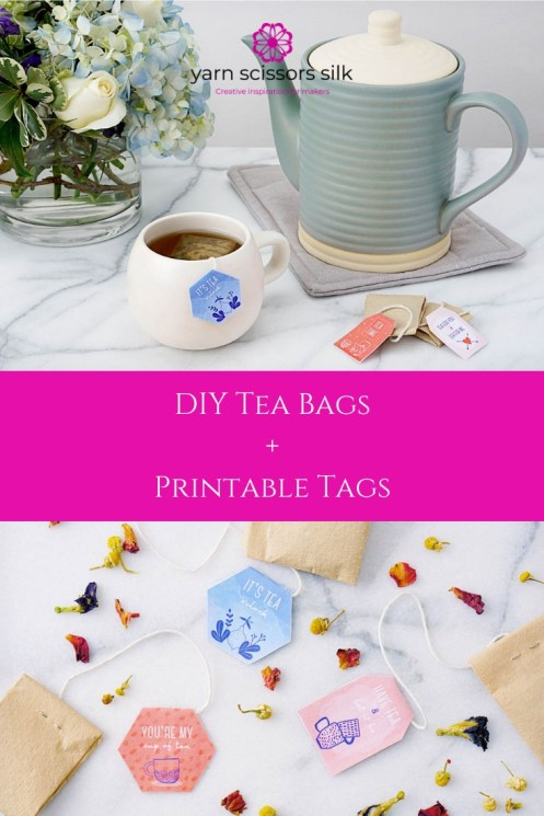 DIY Tea Bags + Printable Tags by Yarn Scissors Silk