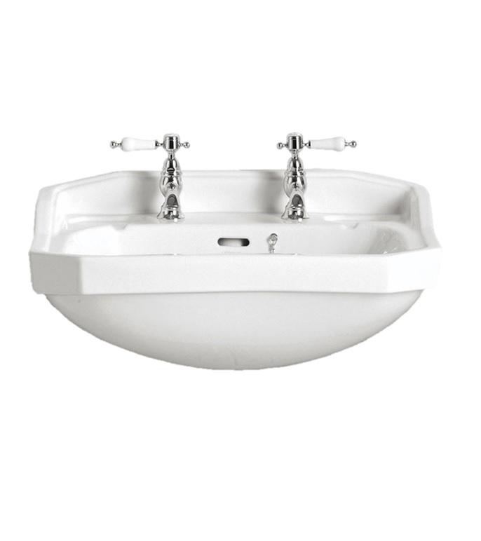 granley medium semi recessed basin 2 tap hole waterloo bathrooms