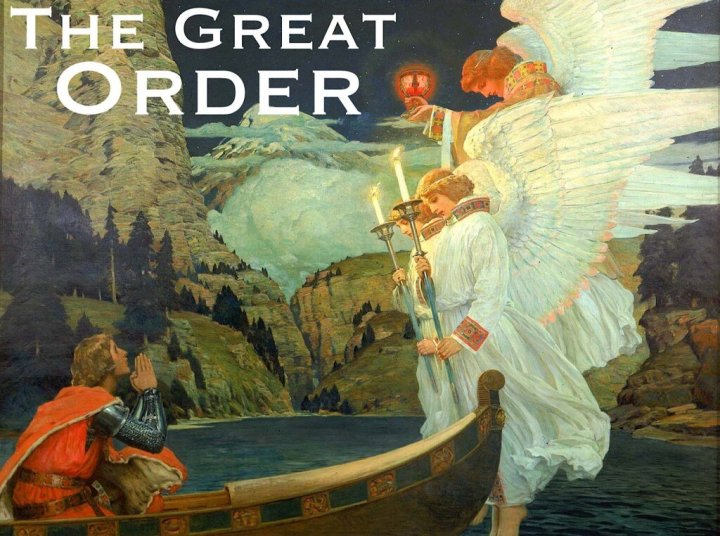 Knight of the Grail, Frederick Judd Waugh, 1912