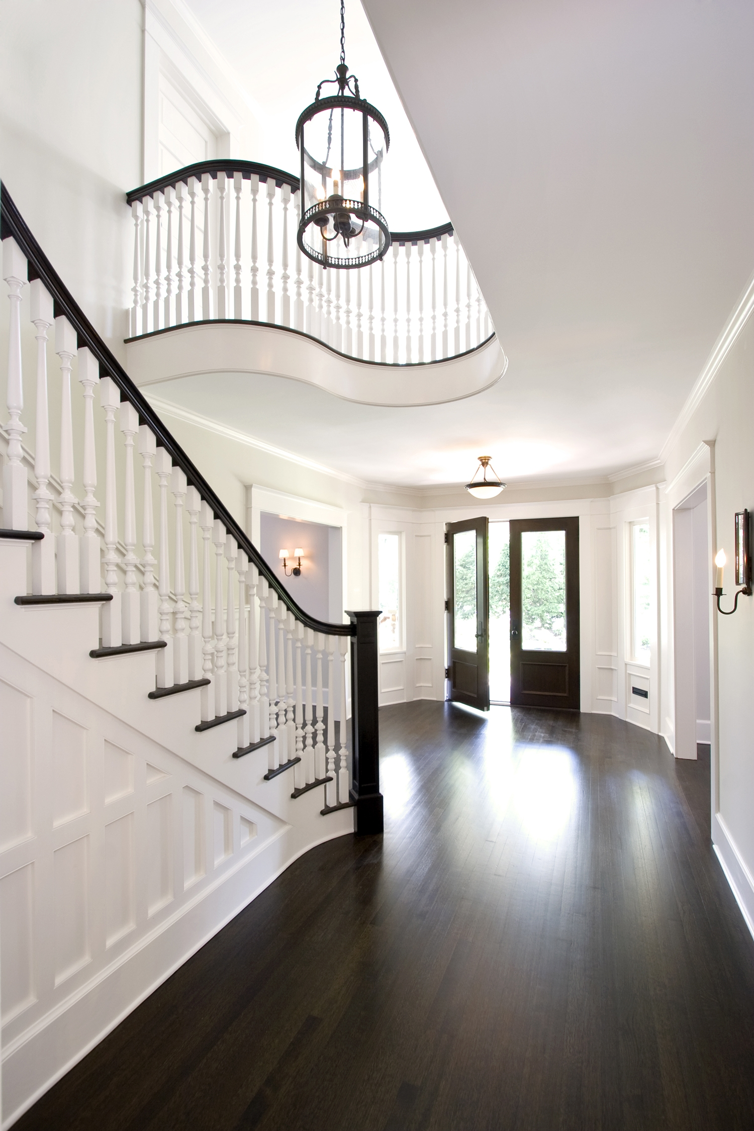 Aia Gold Medal Winner Re Envisioned Stair Hall I Ridgewood Nj | Front Side Staircase Design | Ground Floor Tower | Gallery Photo Indian | Parapet Wall Front | Italian Type House | Residential Stair Tower