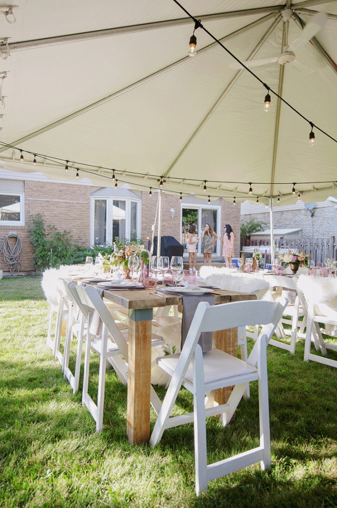 Big White Chair For Baby Shower : white, chair, shower, Backyard, Shower, Little, Party