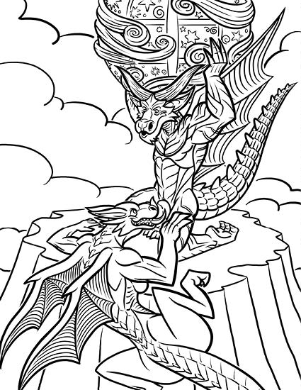 Adult Coloring Books Sex : adult, coloring, books, Dragon, Coloring, Calendar™