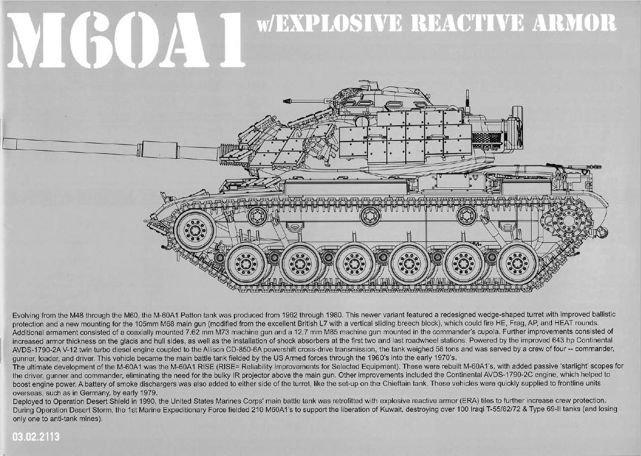 TAKOM # 2113 1/35 M60A1 W/EXPLOSIVE REACTIVE ARMOR — Hell