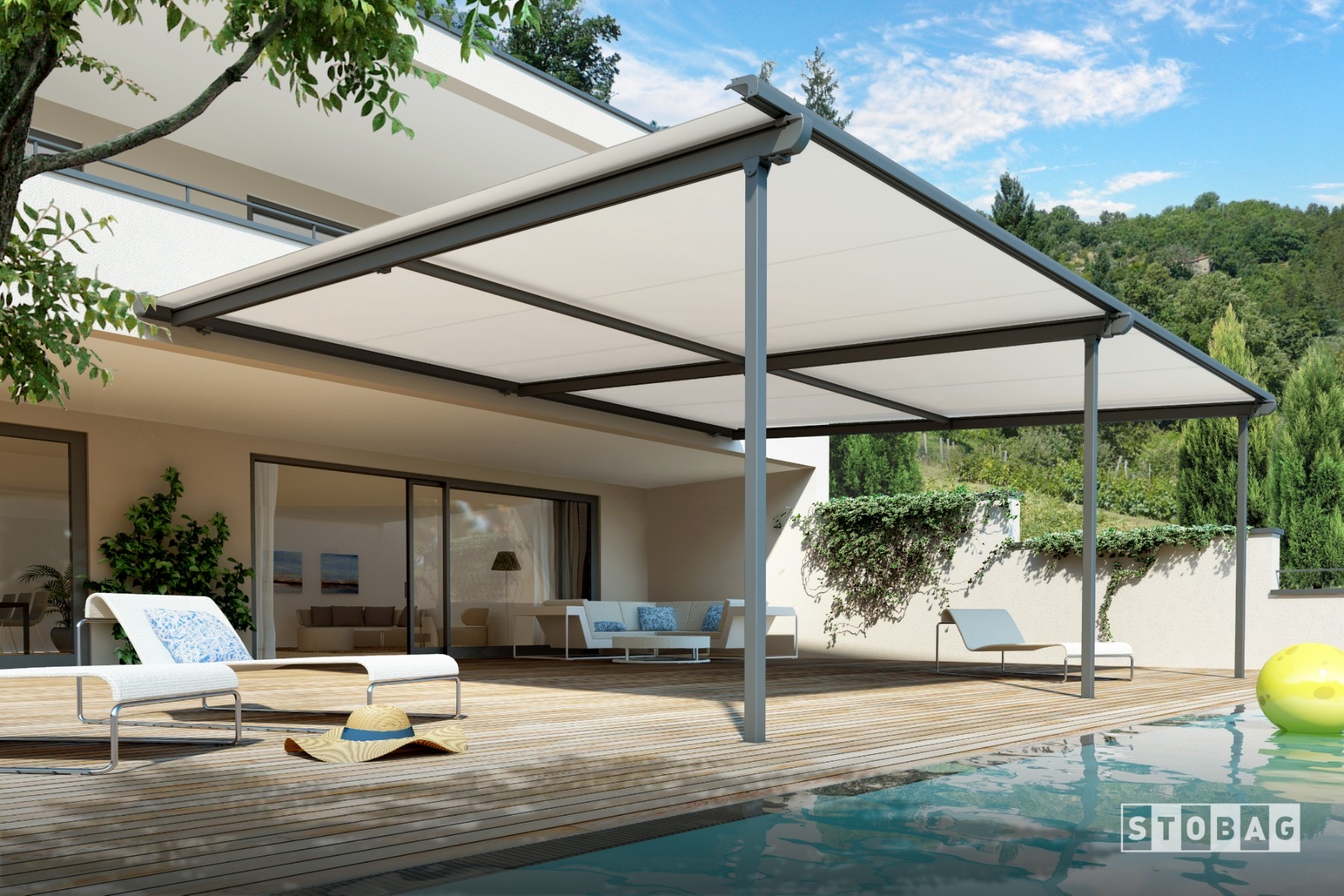 retractable canopy roof