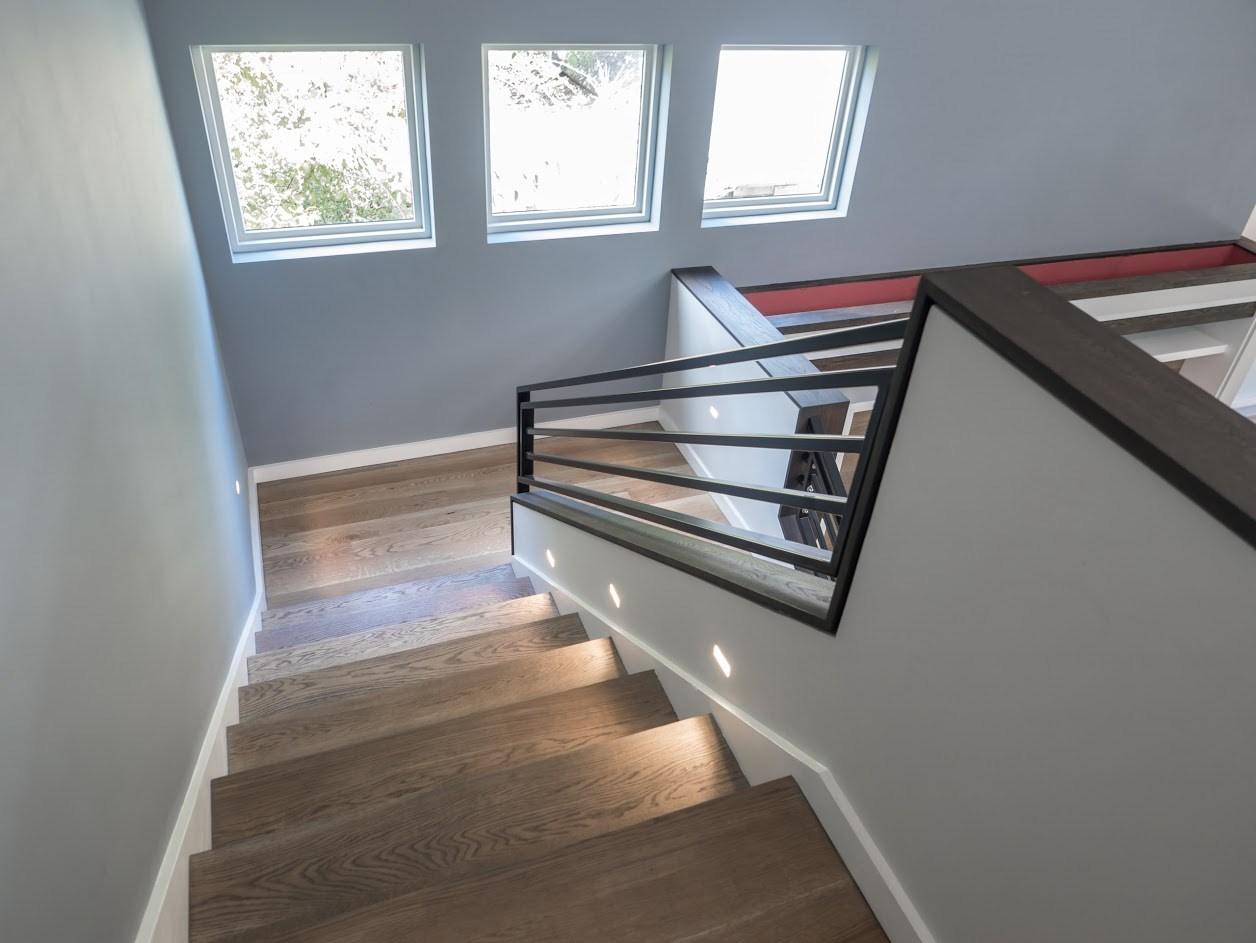 Stair Treads Portfolio Water S Edge Woods Custom Wood Shop | White Oak Stair Treads Near Me | Hardwood Flooring | Quarter Sawn | Lowes | Wood | Staircase Railings