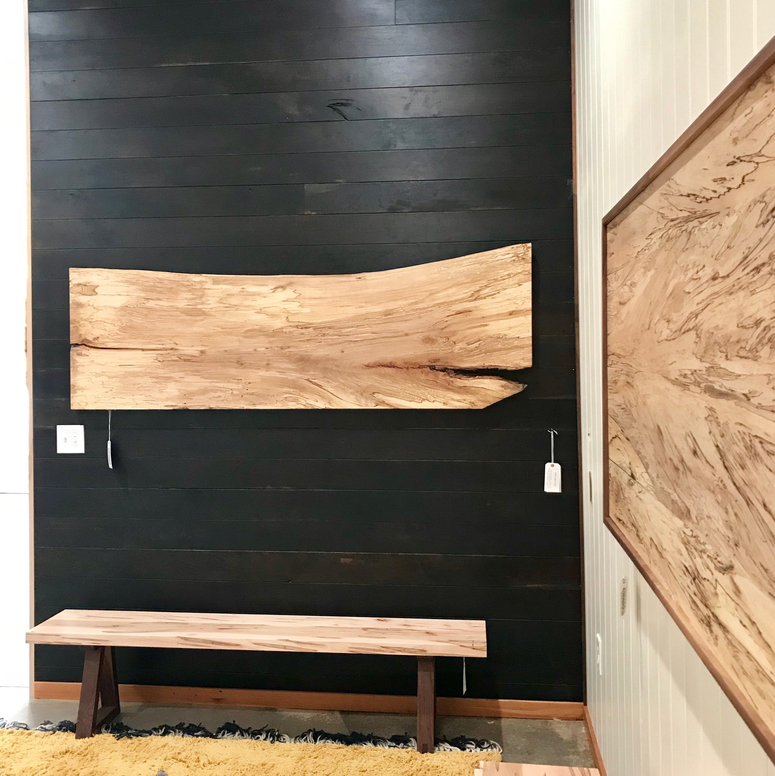 beyond the reclaimed wood wall water