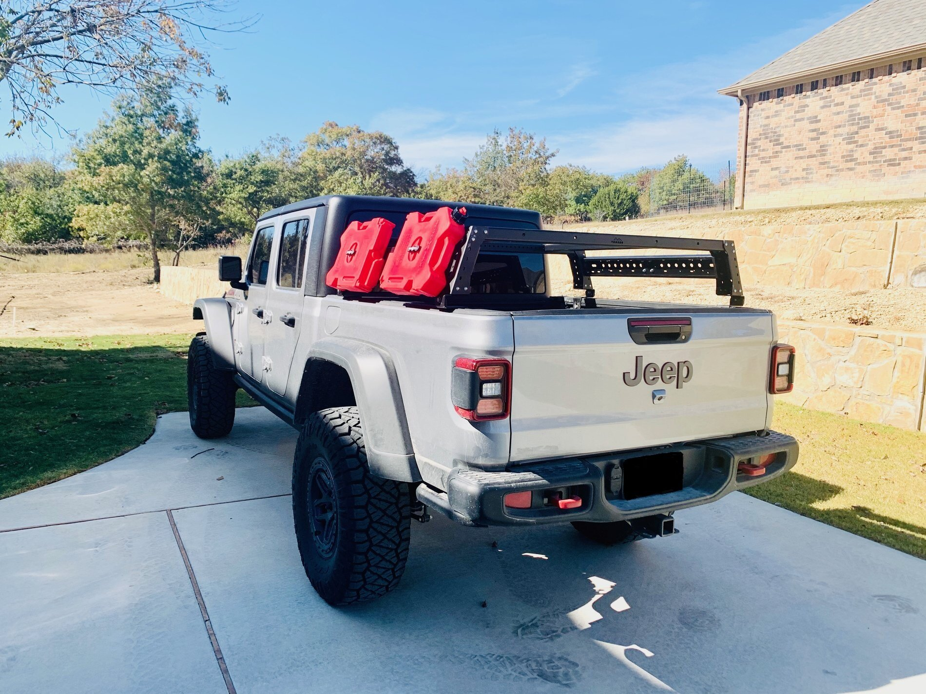 max modular gladiator max steel bed rack fits 2019 and up jeep gladiators max modular truck bed racks