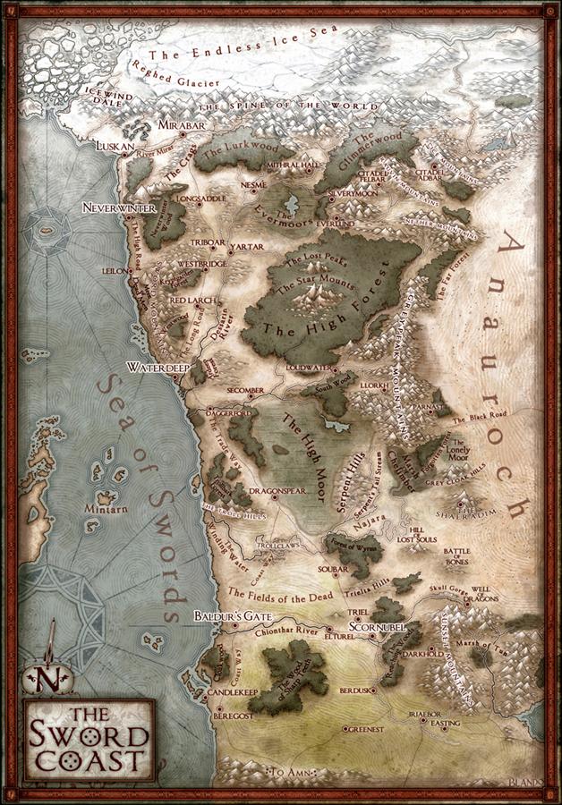 Storm Coast Map : storm, coast, Sword, Coast, Campaign, Jared, Blando