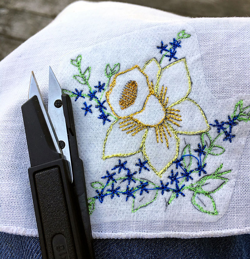 free embroidery pattern and