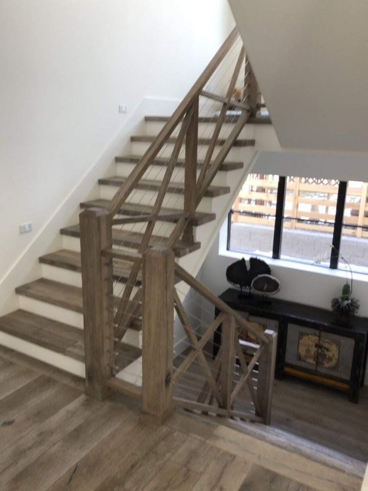 Railings — 5280 Floors   Matching Stairs To Hardwood Floors   Laminate Flooring   Refinishing Hardwood   Stain   Staircase   Wide Plank