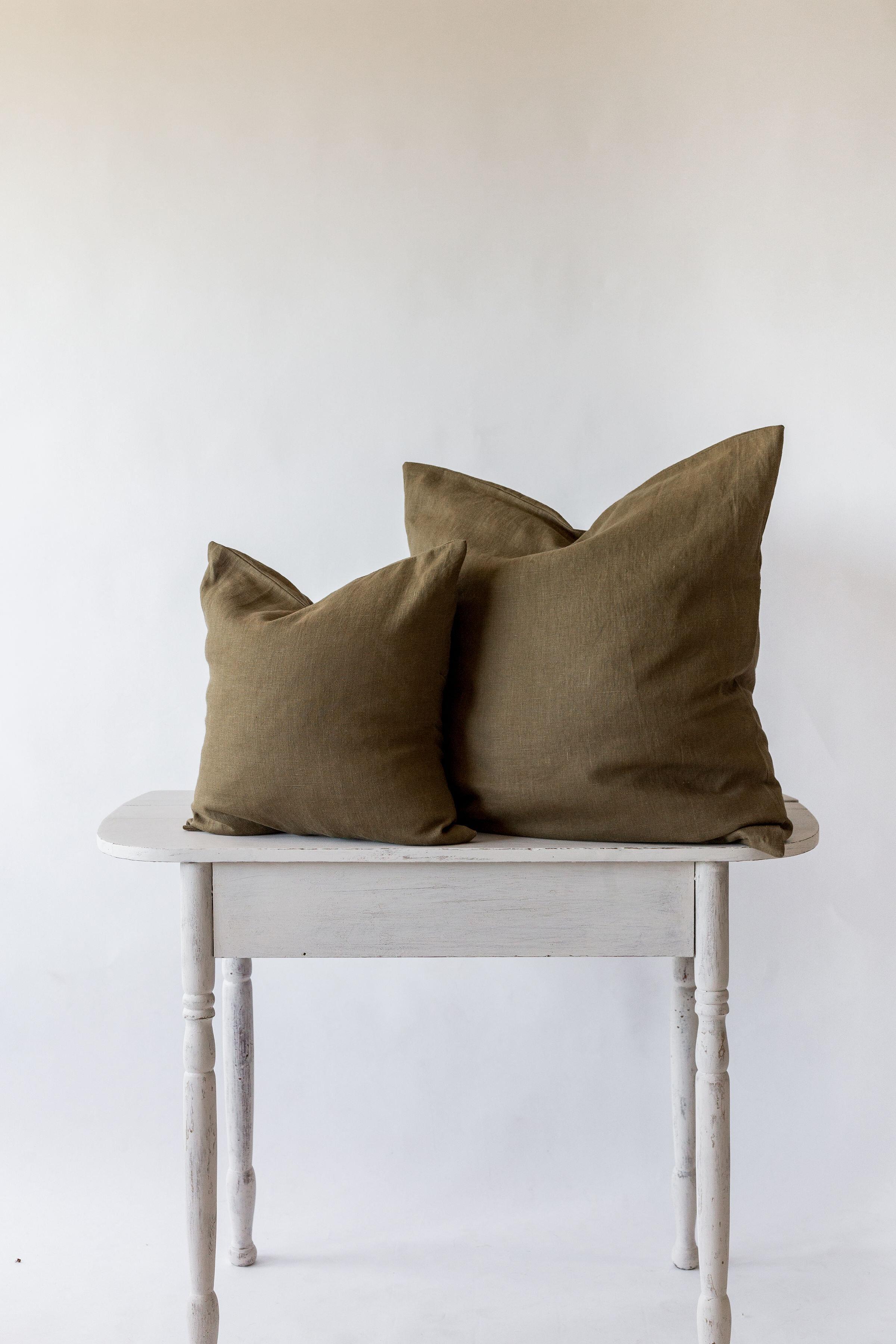 pillow cover dark moss nomi designs