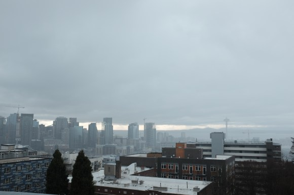 Grey Seattle day. Chronologically out of order. This is what it looked like when I was leaving Capitol Hill. Wet evening but not too bad.