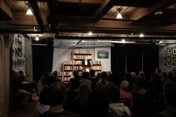 Ken Jennings at Seattle's Elliott Bay Book Company to discuss his new book Planet Funny, 4 June 2018.