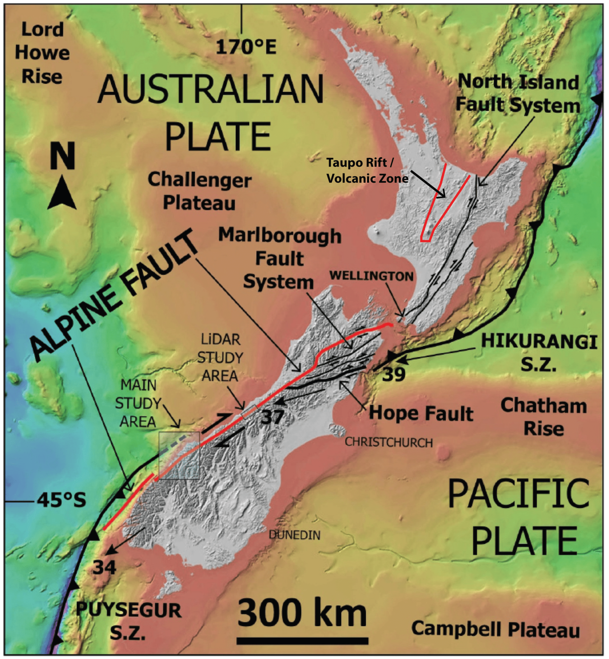hight resolution of tectonic setting of new zealand adapted from barth 2012 showing the west