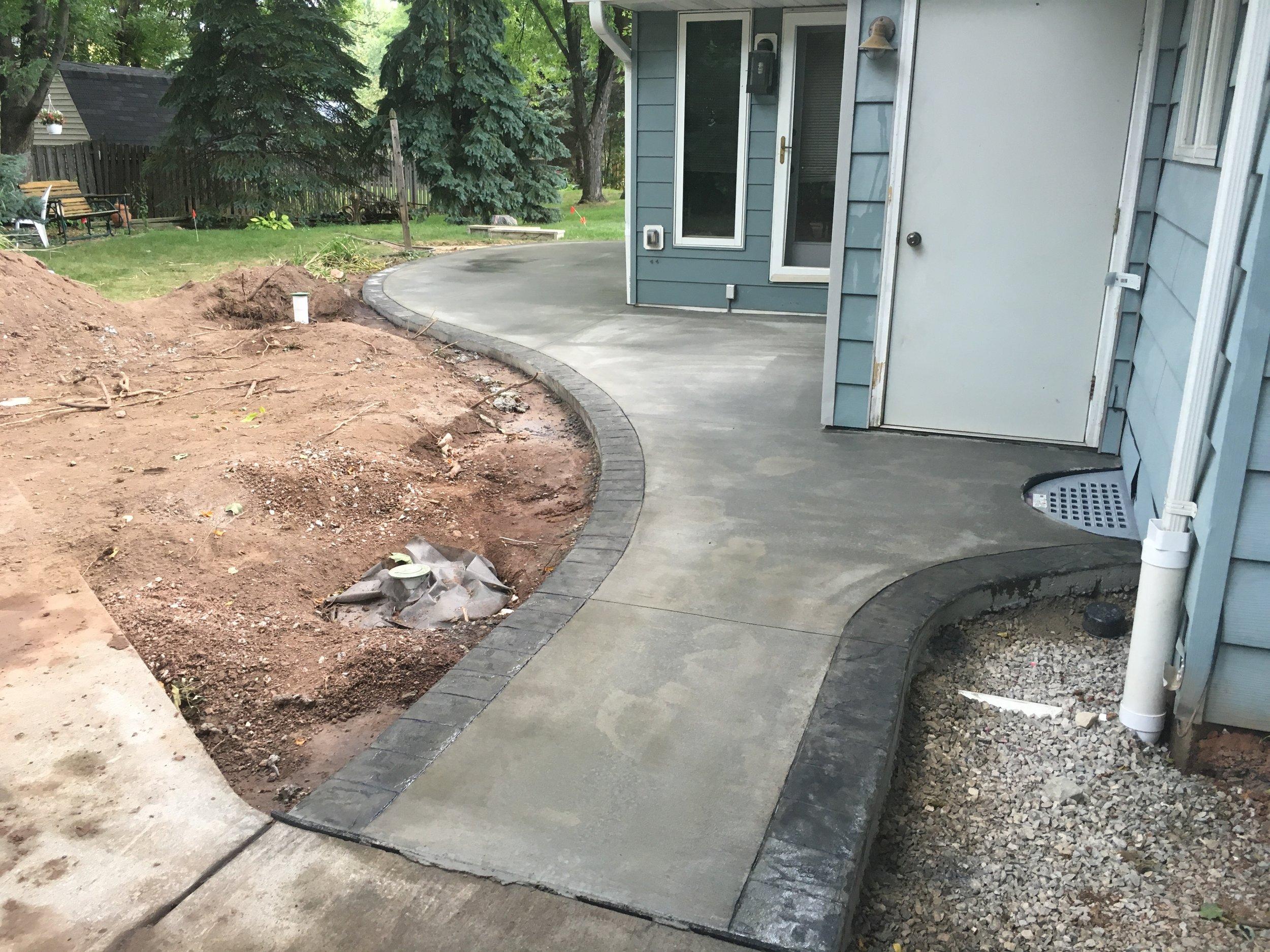 concrete broom finish curb n decor