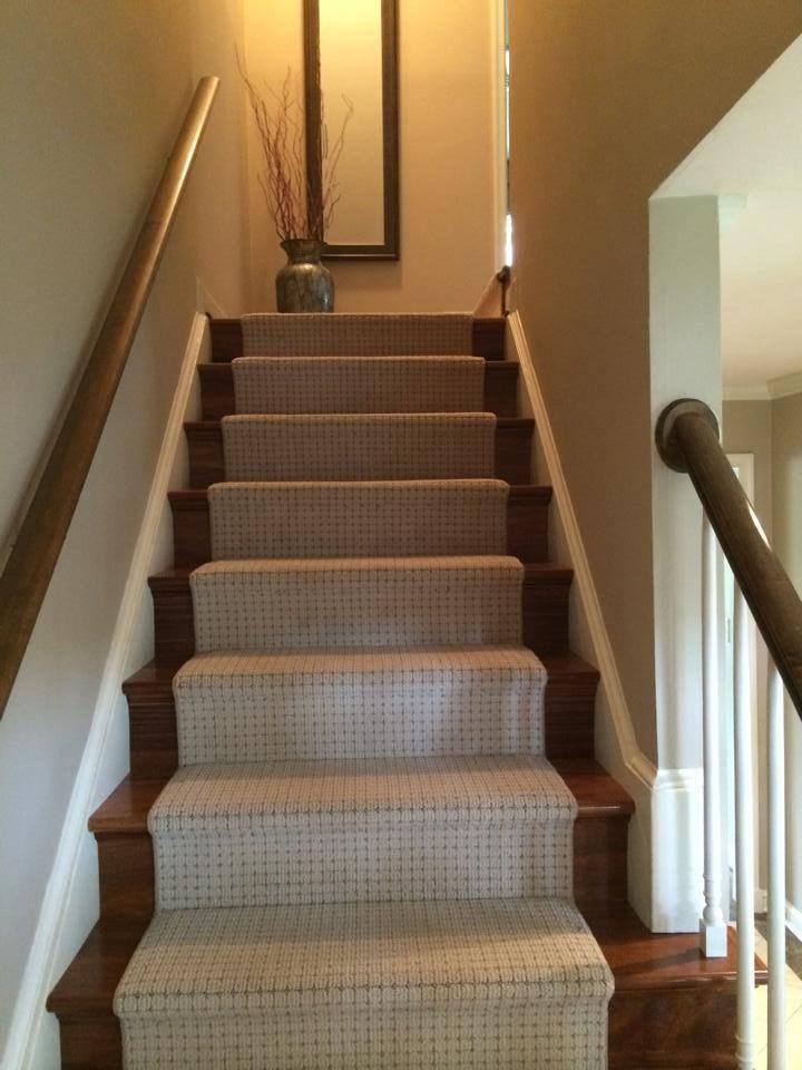 Custom Carpet Runner On Brazilian Teak Stairs — Beers Flooring   Hardwood Floors And Carpet Stairs   Top Step Carpet   Middle   Decorative   Wood   Colour Wall