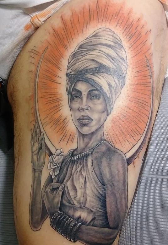 Erica Badu Tattoos : erica, tattoos, Black, Citrus, Punch, Tattoo