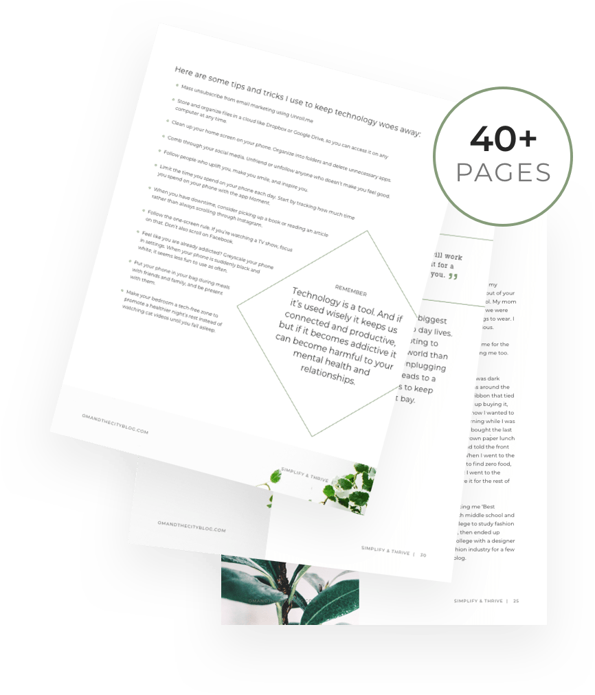 Simplify & Thrive — Om & The City