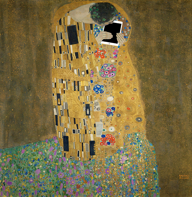"© Kim Dong-Kyu,  ART X SMART  project, 2013. ""The Kiss"" by Gustav Klimt."