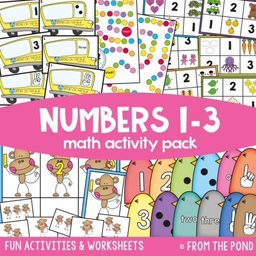 small resolution of Kindergarten Math Packs — From the Pond