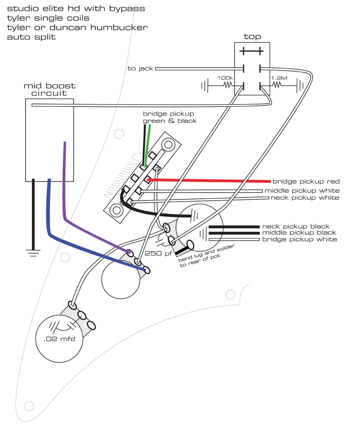 Split Coil Humbucker Single Main Humbucker Boost Wiring