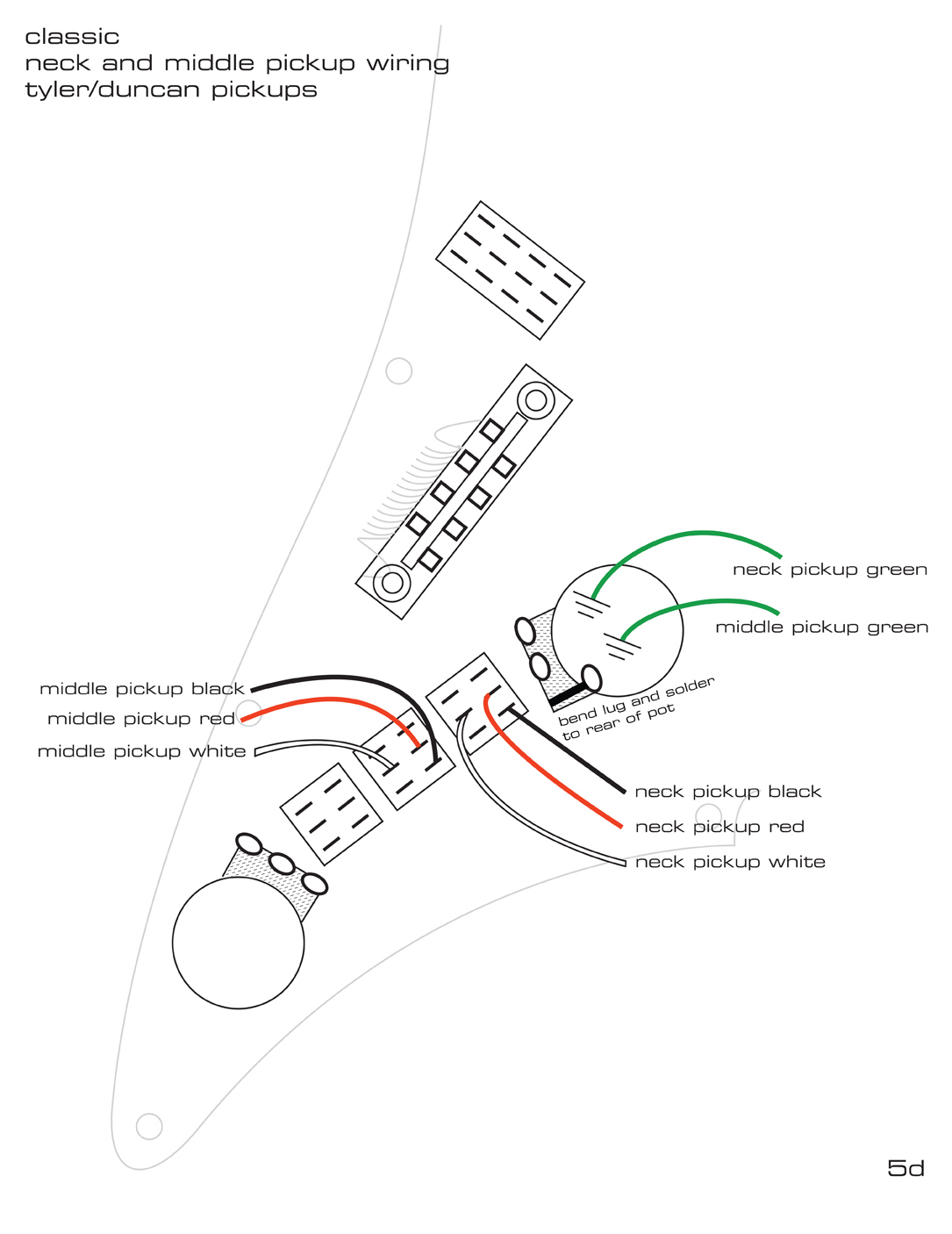Pickguard Wiring Diagrams — James Tyler Guitars