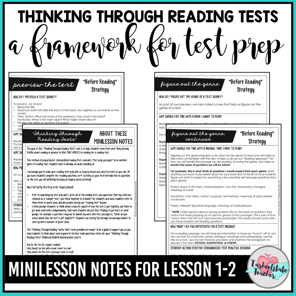 medium resolution of FREE Reading Test Prep Passages — Tarheelstate Teacher