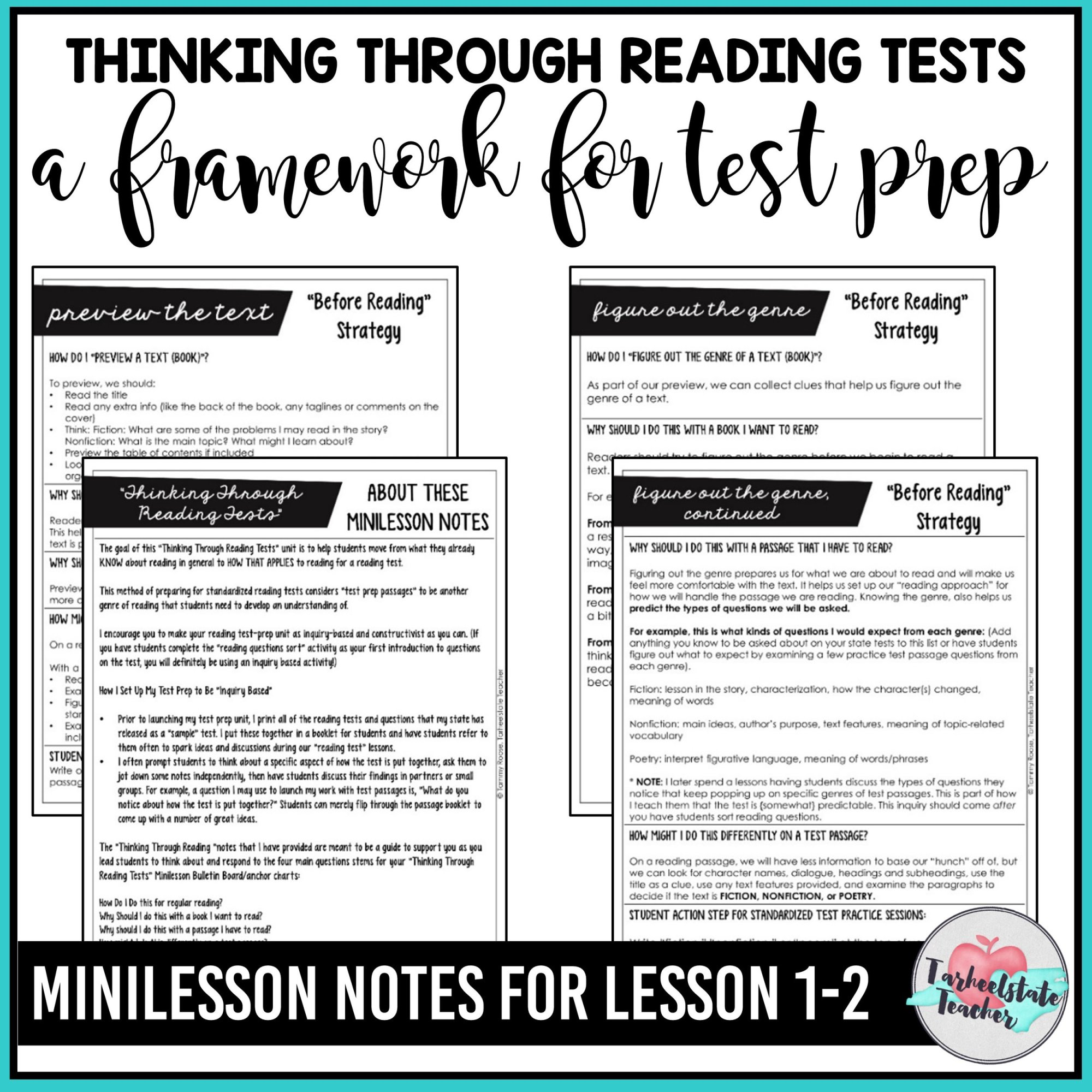 hight resolution of FREE Reading Test Prep Passages — Tarheelstate Teacher