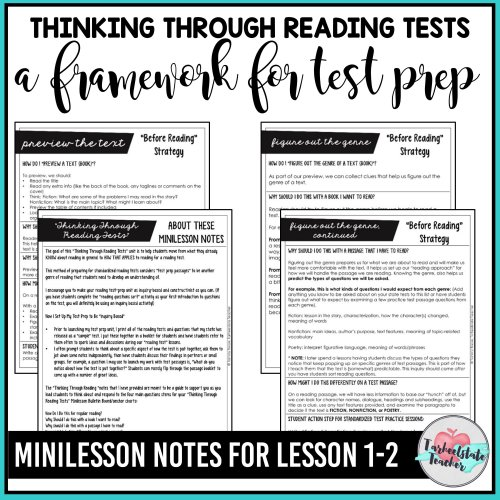 small resolution of FREE Reading Test Prep Passages — Tarheelstate Teacher