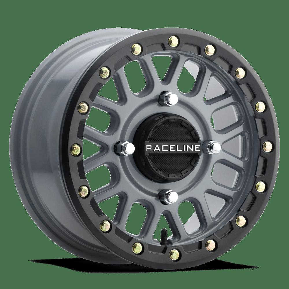 medium resolution of raceline a93sg wheel 4lug stealth grey 14x7 1000