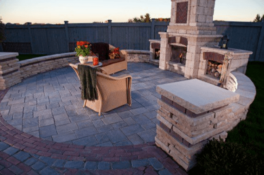 store wood for your outdoor fireplace