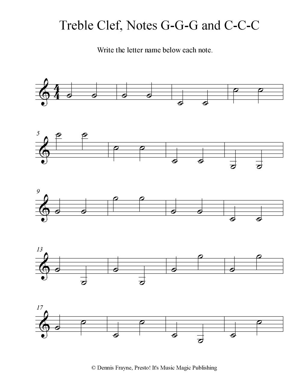 medium resolution of FREE! Printable Music Note Naming Worksheets — Presto! It's Music Magic  Publishing
