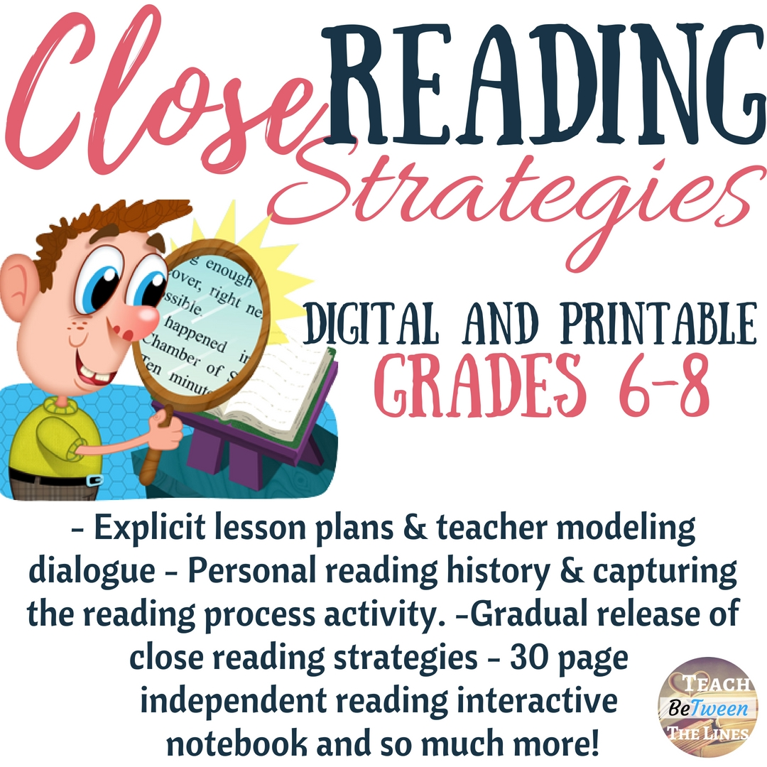 hight resolution of Talking to the Text\ - A Close Reading Strategy That Works! — Teach BeTween  the Lines