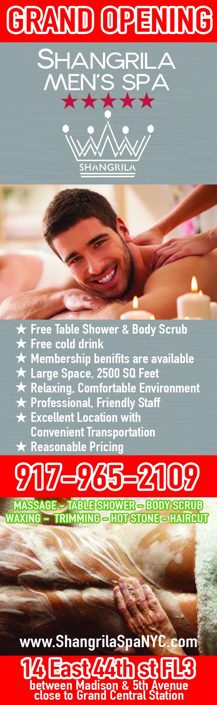 Table Shower Massage Nyc : table, shower, massage, Table, Shower, Scrub, Facial