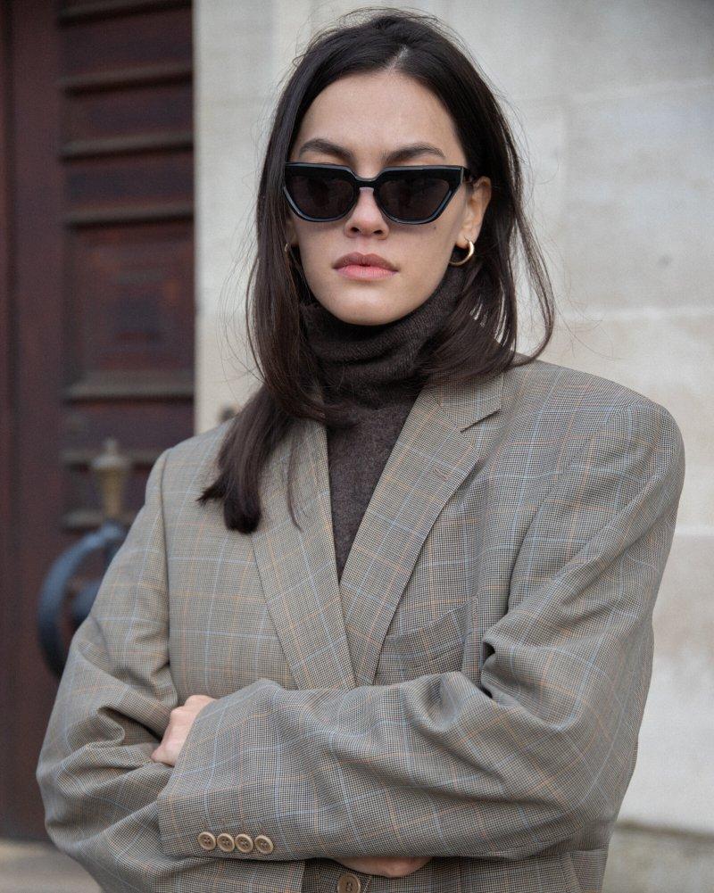 Vintage checked blazer