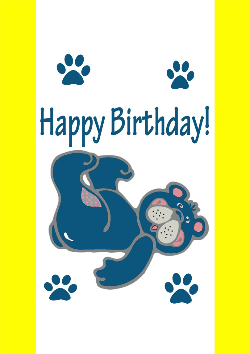 1st Birthday Cards Free Printable : birthday, cards, printable, Teddy, Birthday, Printable, Cards, PRINTBIRTHDAY.CARDS