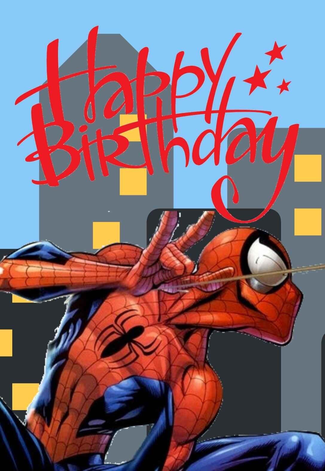 Spiderman Birthday Card : spiderman, birthday, Spiderman, Printable, Birthday, Cards, PRINTBIRTHDAY.CARDS