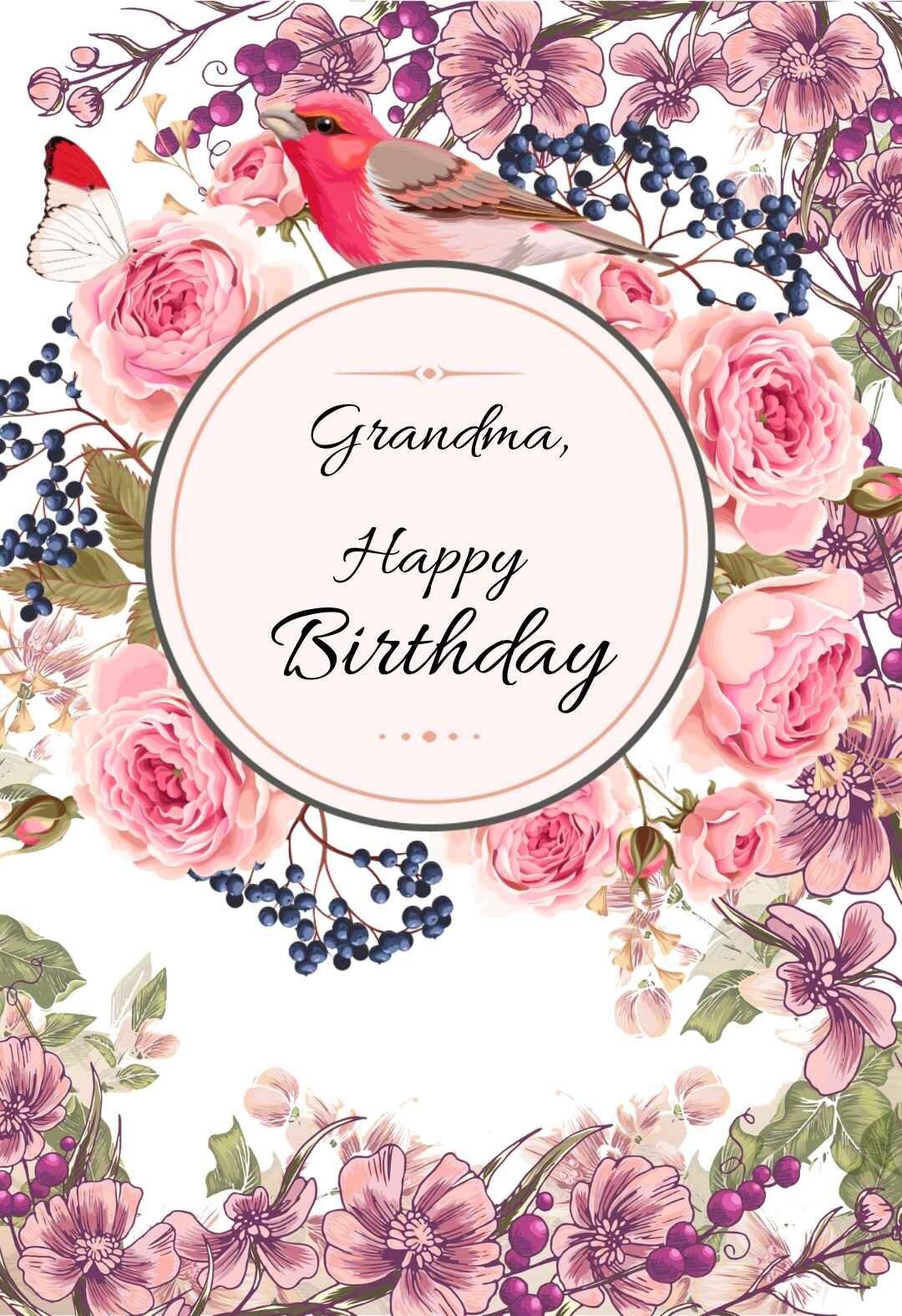 Happy Birthday Grandma Printable Card : happy, birthday, grandma, printable, Grandma, Printable, Birthday, Cards, PRINTBIRTHDAY.CARDS