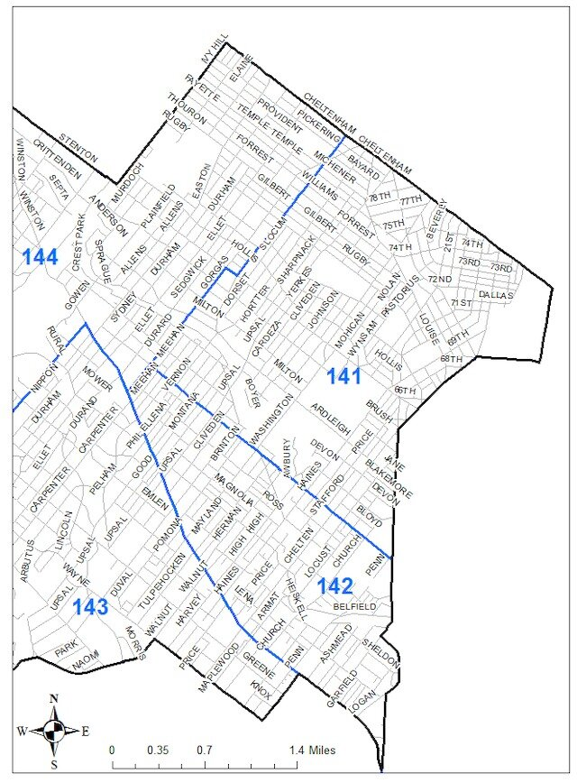 Notes from the 14th Police District PSA 4 Meeting — East