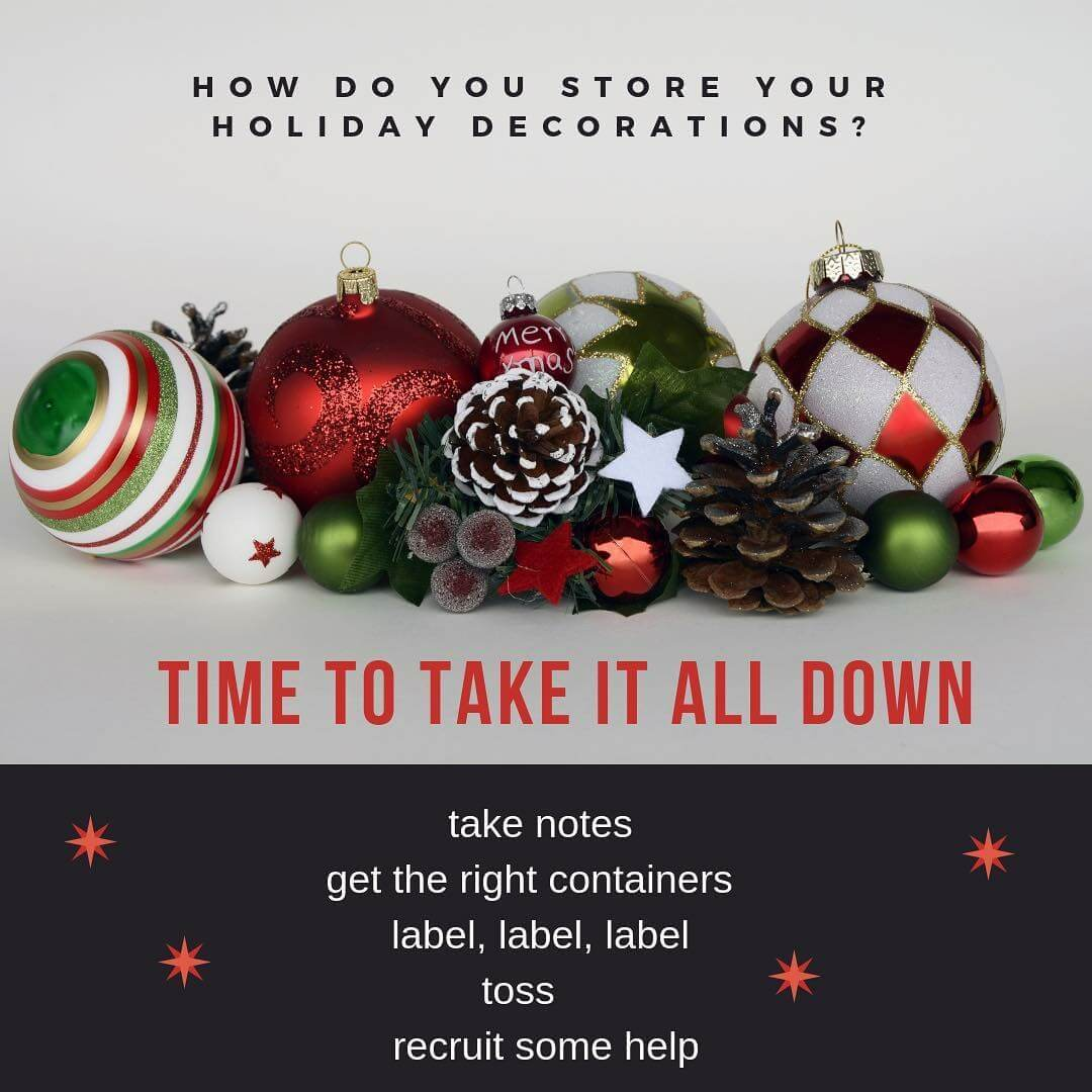 Tips For Un Decorating The Christmas Decorations Chaos Organizing